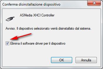 elimina driver dispositivo
