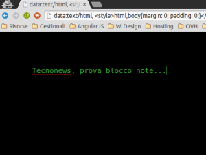 chrome blocco note in stile matrix