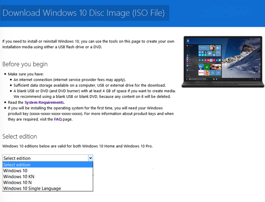 Windows 10 gratis italiano. Download Windows 10 ISO Offline installer free