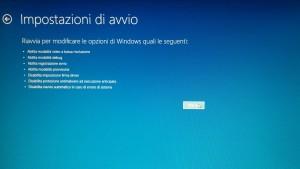 riavvia windows 10 in modalità provvisoria