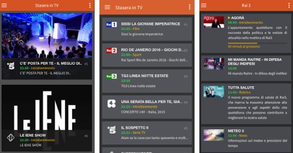 miglior guida tv android iphone ipad
